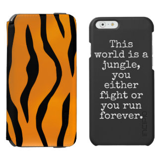 Wild Tiger Stripes with Personalized Message Incipio Watson™ iPhone 6 Wallet Case