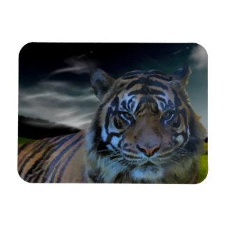 Wild Tiger Watercolor Wildcat Flexible Magnet