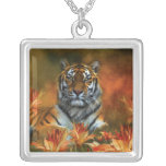 Wild Tigers Wearable Art Necklace