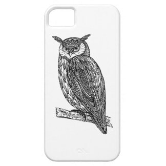 Wild Totem Animal Owl Doodle Case For The iPhone 5