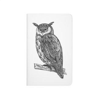 Wild Totem Animal Owl Doodle Journal