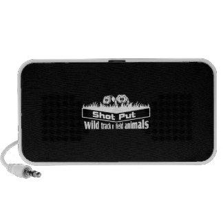 wild track and field animals iPod speaker