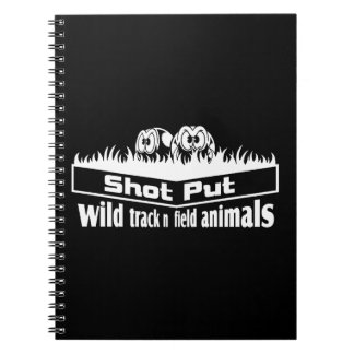 wild track and field animals notebook