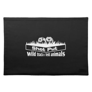 wild track and field animals placemat