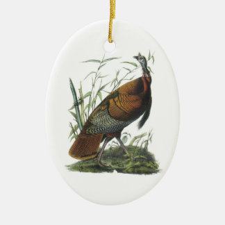 Wild Turkey by Audubon Christmas Ornament