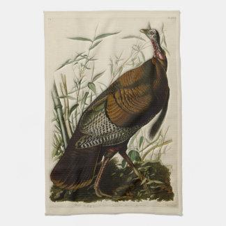 Wild Turkey by John Audubon Tea Towel