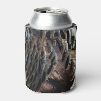 Wild Turkey Feathers I Abstract Nature Design Can Cooler