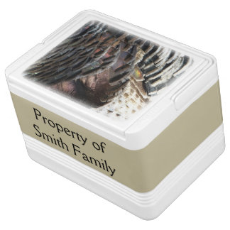 Wild Turkey Feathers I Abstract Nature Design Igloo Cooler