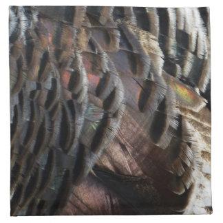 Wild Turkey Feathers I Abstract Nature Design Napkin