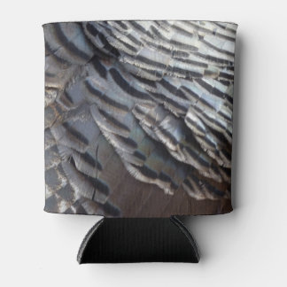 Wild Turkey Feathers II Abstract Nature Design Can Cooler