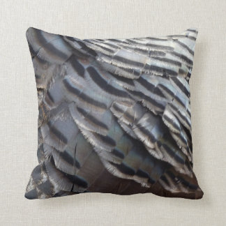 Wild Turkey Feathers II Abstract Nature Design Cushion