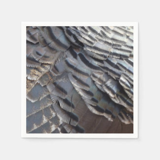 Wild Turkey Feathers II Abstract Nature Design Disposable Napkin
