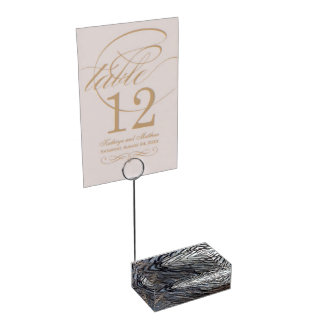 Wild Turkey Feathers II Abstract Nature Design Table Card Holder