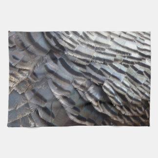 Wild Turkey Feathers II Abstract Nature Design Tea Towel