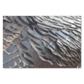 Wild Turkey Feathers II Abstract Nature Design Tissue Paper