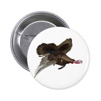 Wild Turkey Hunting 6 Cm Round Badge
