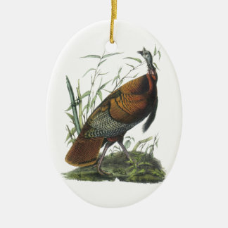 Wild Turkey, John Audubon Christmas Ornament