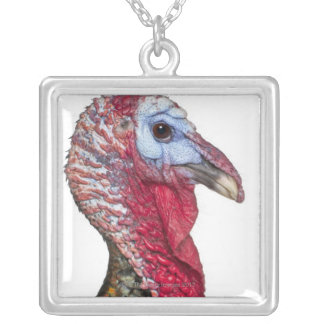 Wild Turkey - Meleagris gallopavo Silver Plated Necklace