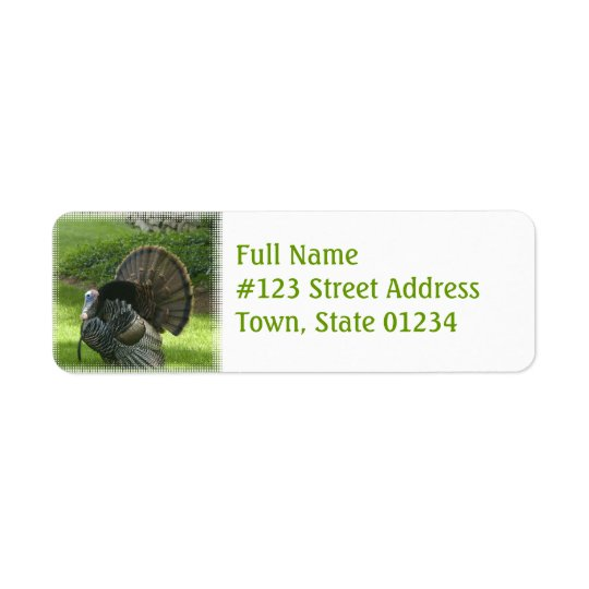 Wild Turkey Return Address Label