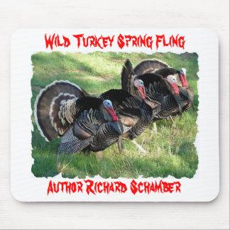 Wild Turkey Spring Fling, Author Rick Schamber. Mouse Mat