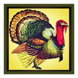 Wild Turkey Thanksgiving Dinner Invite