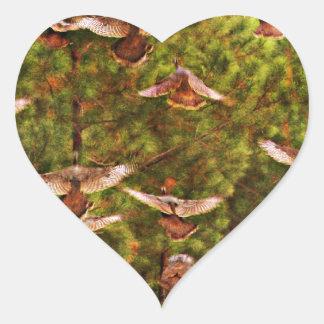 Wild Turkeys Heart Sticker