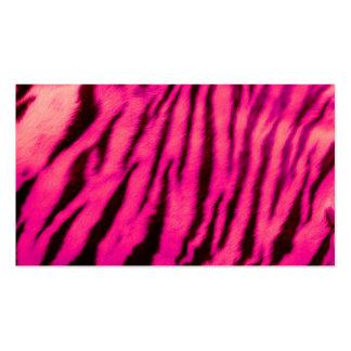 Wild & Vibrant Pink Tiger Stripes Pack Of Standard Business Cards