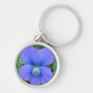 Wild Violet - Keyring Silver-Colored Round Key Ring