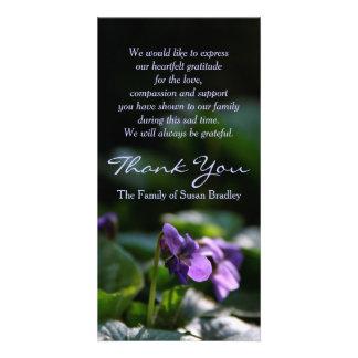 Wild Violets - Memorial Sympathy Thank You Photo Card