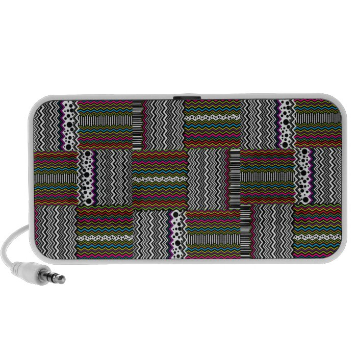 Wild Weaved Zig-Zags Laptop Speaker
