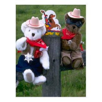 Wild west bear postcard