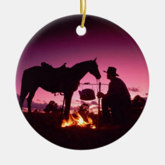 Wild West Camping Christmas Ornament