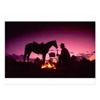 Wild West Camping Postcard