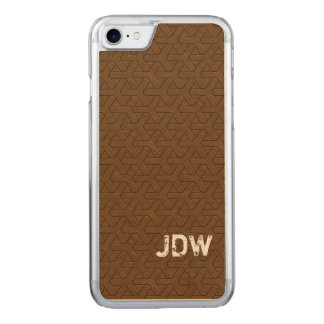 Wild West Chinese Mahogany Mosaic style, initials Carved iPhone 8/7 Case