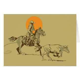 Wild West Cowboy at work Greeting Card