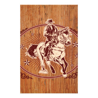 Wild West Cowboy Country rodeo Western Personalized Stationery