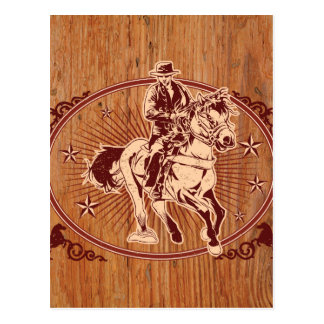 Wild West Cowboy Country rodeo Western Postcard