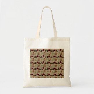 Wild West Cowboy Country Western on Burlap Pattern Tote Bag