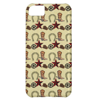 Wild West Cowboy Country Western on Burlap Print iPhone 5C Case