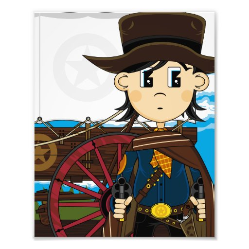Wild West Cowboy Sheriff Photo Print