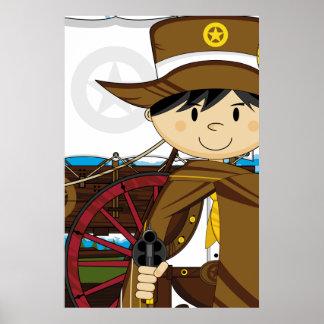 Wild West Cowboy Sheriff Poster