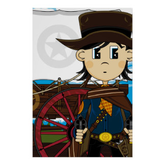 Wild West Cowboy Sheriff Poster