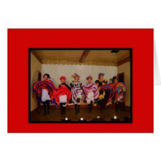 Wild West Dance Hall Girls Greeting Card