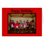 Wild West Dance Hall Girls Happy Birthday Greeting Cards