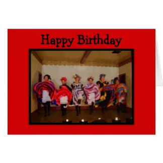 Wild West Dance Hall Girls Happy Birthday Card