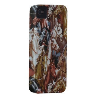 Wild West Horses Blackberry Bold 9700/9780 iPhone 4 Case-Mate Case