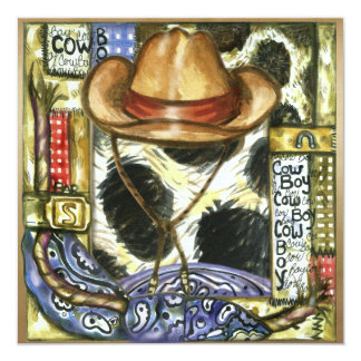 Wild West Party - SRF 13 Cm X 13 Cm Square Invitation Card