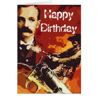 Wild West Pop Art Birthday Card