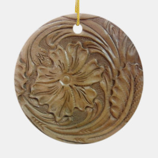 Wild West Rose Christmas Ornament