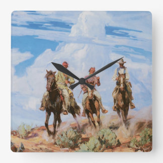 Wild West Scouts/Cowboy Wall Clock
